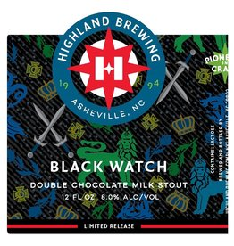 Highland Brewing Company 'Black Watch' Double Chocolate Milk Stout 12oz Sgl