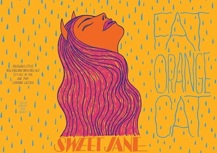 Fat Orange Cat 'Sweet Jane' Milkshake IPA 16oz (Can)