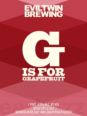 Evil Twin Brewing 'G is for Grapefruit' 16oz (Can)