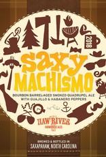 Haw River Farmhouse Ales 'Saxy Machismo' Bourbon Barrel-aged Smoked Quadrupel Ale 500mL