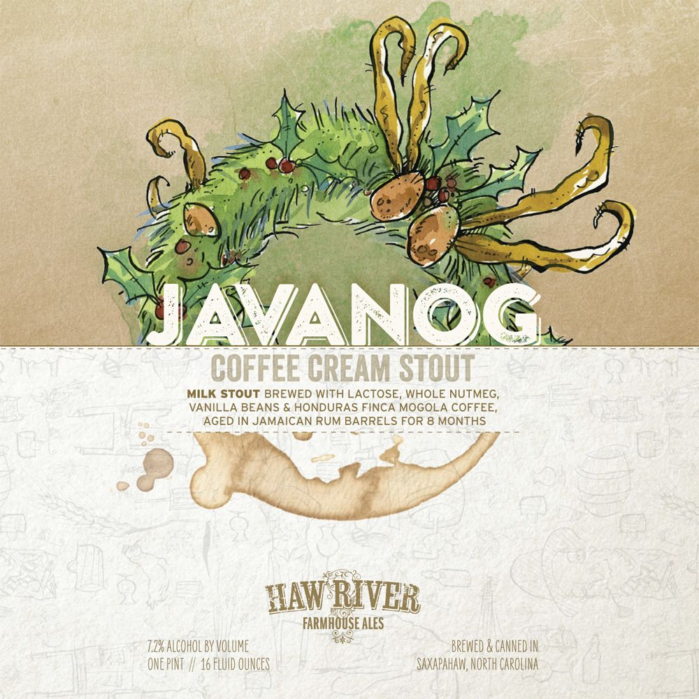 Haw River Farmhouse Ales 'Javanog' Coffee Cream Stout 16oz Can