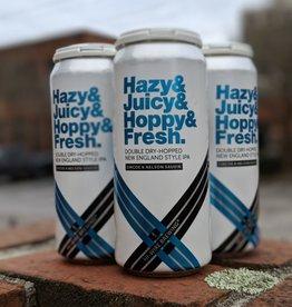 Hi-Wire Brewing 'Hazy & Hoppy & Juicy & Fresh 4.0' New England-style IPA 16oz (Can)