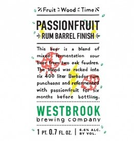 Westbrook 'Passionfruit Rum Barrel Finish' 500ml