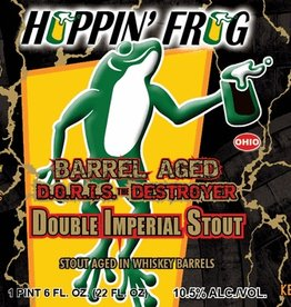 Hoppin' Frog 'Barrel Aged DORIS the Destroyer' Stout Aged in Whiskey Barrels 22oz