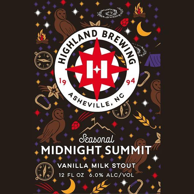 Highland 'Midnight Summit' Vanilla Milk Stout 12oz (Can)