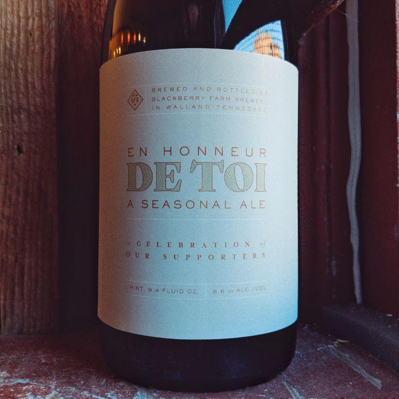 Blackberry Farm Brewery 'En Honneur De Toi ' Seasonal Saison 750ml