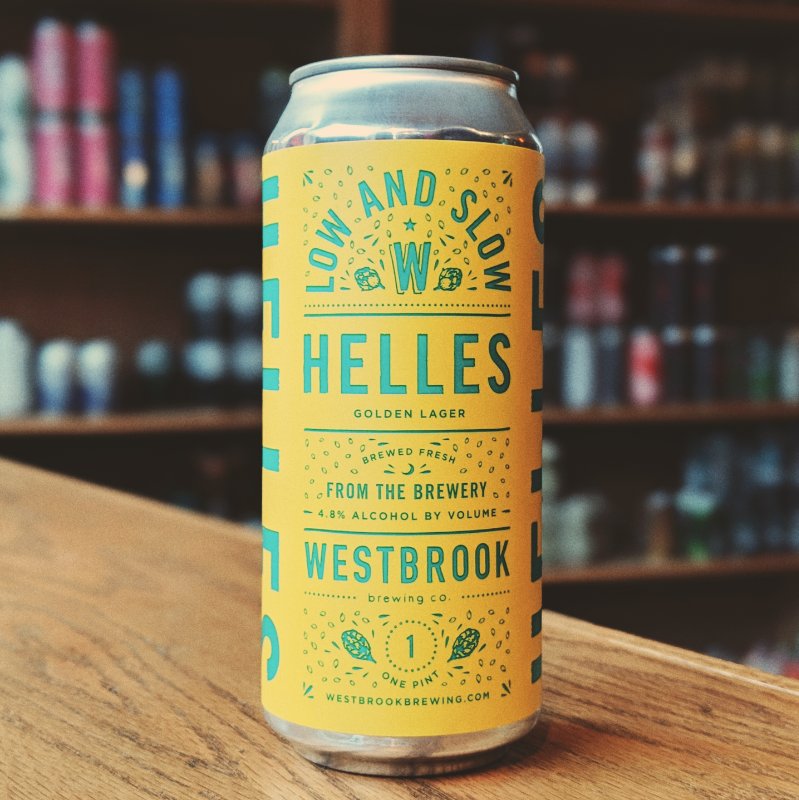 Westbrook 'Low and Slow Helles' Golden Lager 16oz (Can)