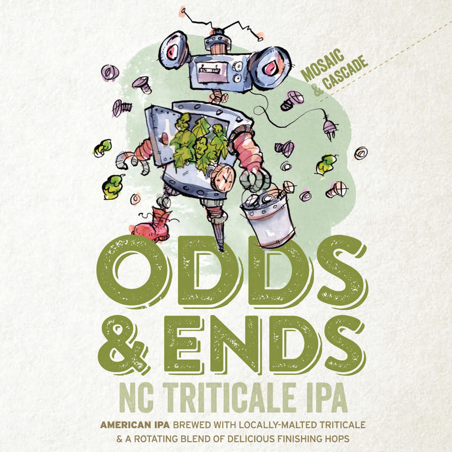 Haw River Farmhouse Ales 'Odds & Ends' IPA 16oz (Can)