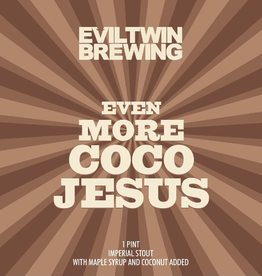 Evil Twin Brewing 'Even More Coco Jesus' Imperial Stout 16oz (Can)