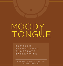 Moody Tongue 'Bourbon Barrel-aged Chocolate Barleywine' 12oz Sgl