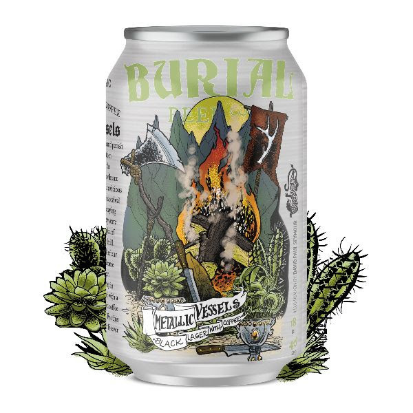 Burial Beer Co. 'Metallic Vessels' Black Lager w/ Coffee 12oz (Can)