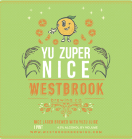 Westbrook 'Yu Zuper Nice' Rice Lager w/ Yuzu 16oz (Can)
