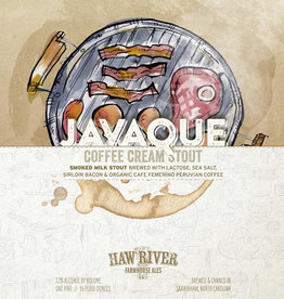 Haw River Farmhouse Ales 'JavaQue' Smoked Milk Stout 16oz (Can)