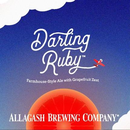 Allagash Brewing Co. 'Darling Ruby' Farmhouse Ale 12oz Sgl