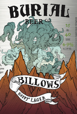 Burial Beer Co. 'Billows' Hoppy Lager 12oz Can