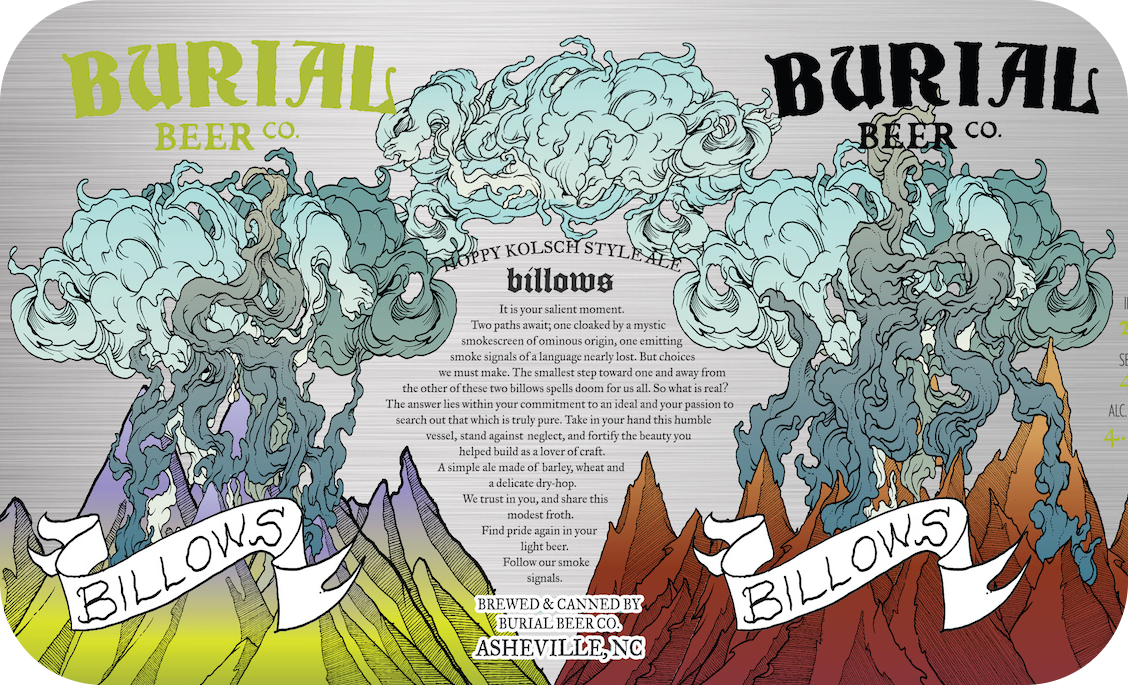 Burial 'Billows' Hoppy Lager 12oz Can