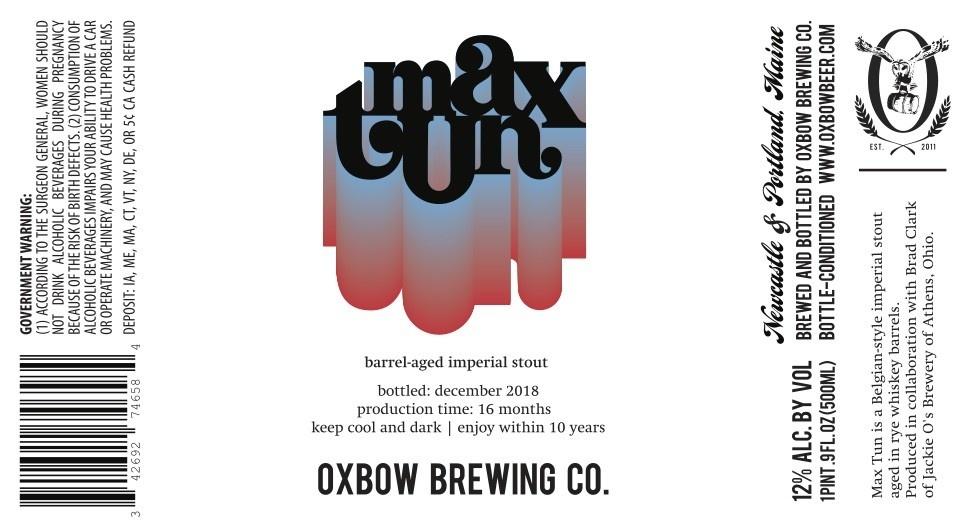 Oxbow x Jackie O's 'Max Tun' 500ml