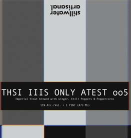 Stillwater Artisanal 'THSI IIIS ONLY ATEST oo5' 16oz Can