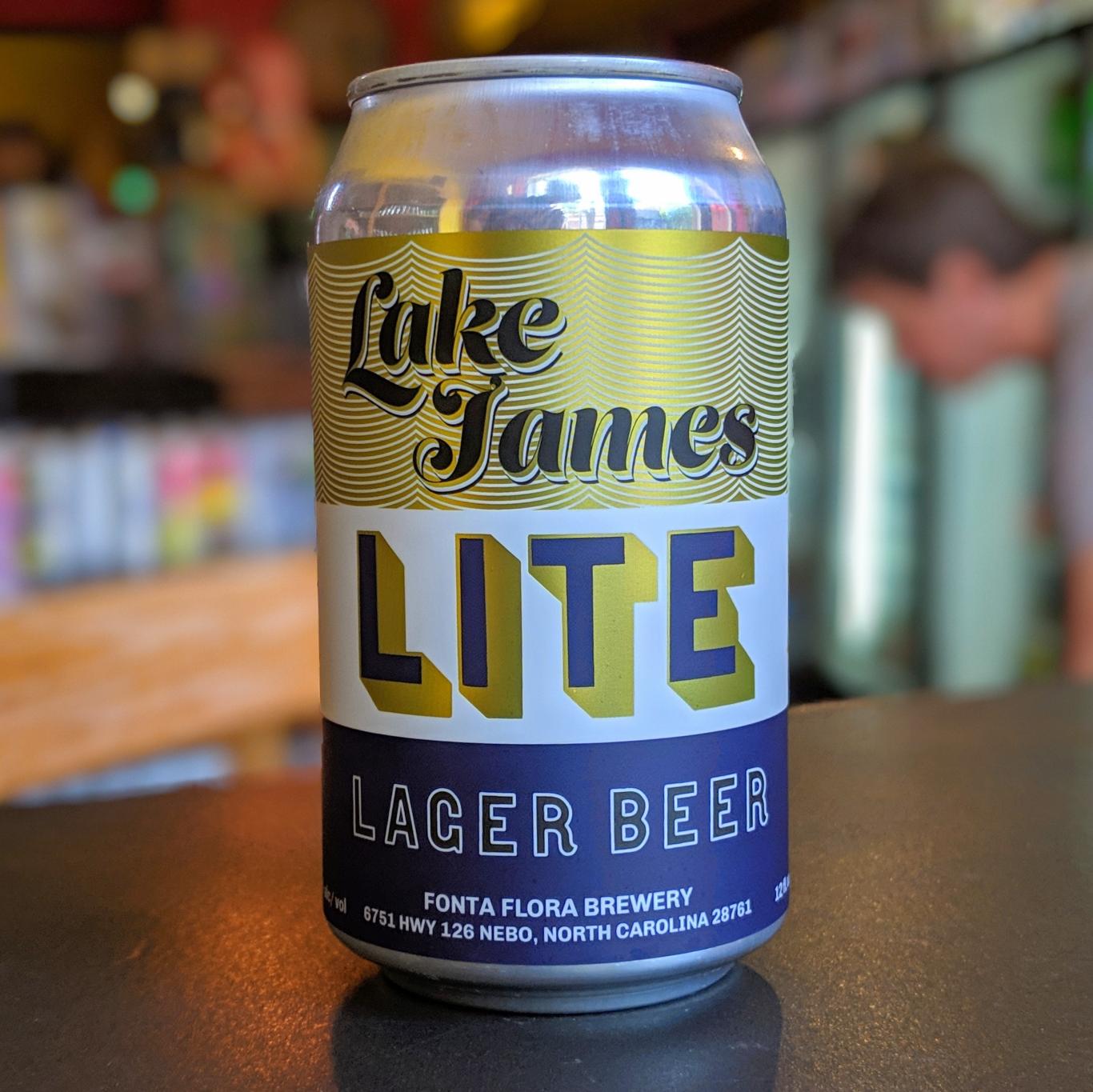 Fonta Flora 'Lake James Lite' Lager Beer 12oz Can