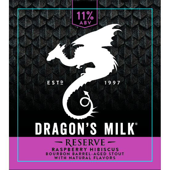 New Holland 'Dragon's Milk Raspberry Hibiscuis' Imperial Stout 12oz Sgl