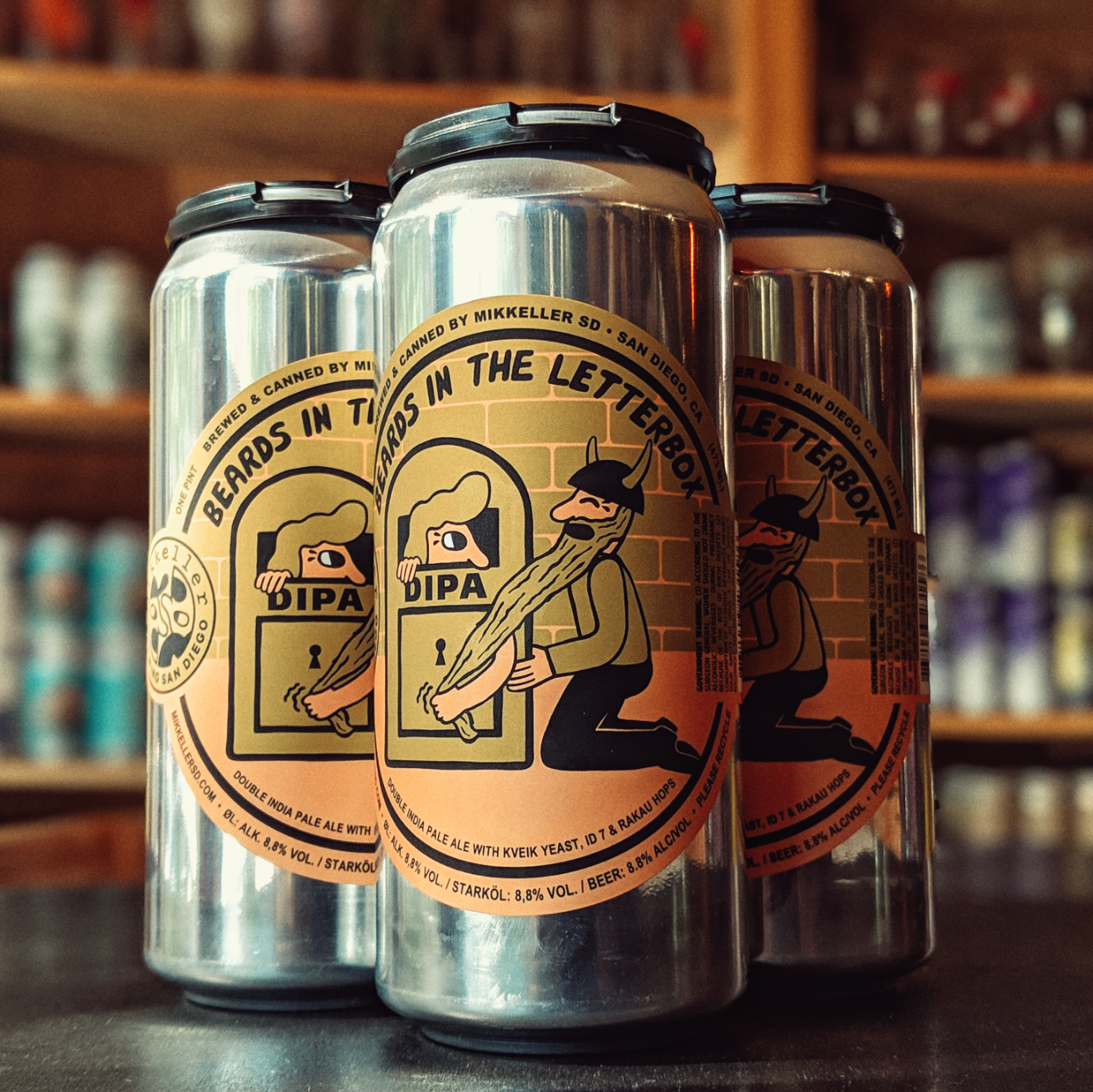 Mikkeller SD 'Beards in the Letterbox' Double IPA 16oz Can