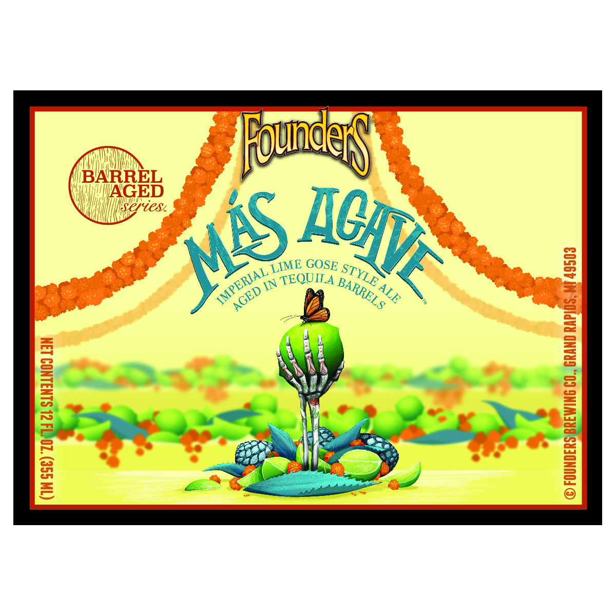 Founders Brewing Co. 'Mas Agave' Barrel-Aged Imperial Lime Gose 12oz Sgl