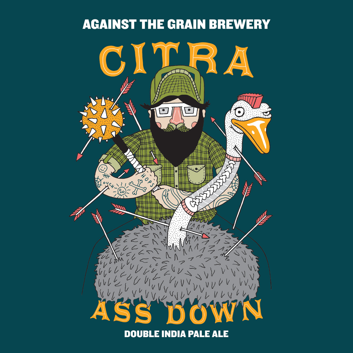 Against the Grain 'Citra Ass Down' Double IPA 16oz Can