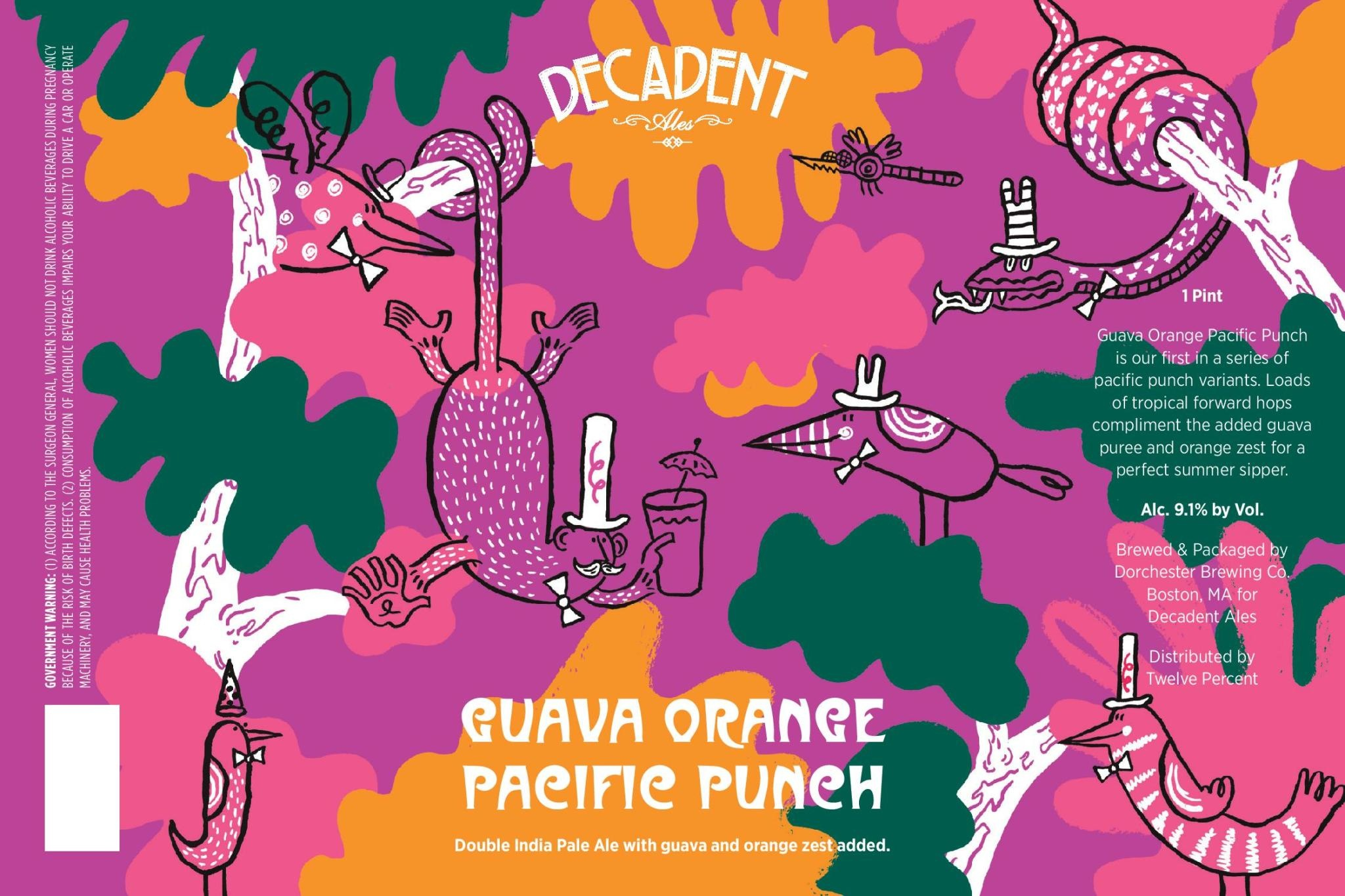 Decadent Ales 'Guava Orange Pacific Punch' Double IPA 16oz Can