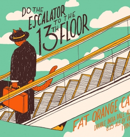 Fat Orange Cat 'Do The Escalator to the 13th Floor' New England-Style IPA 16oz Can