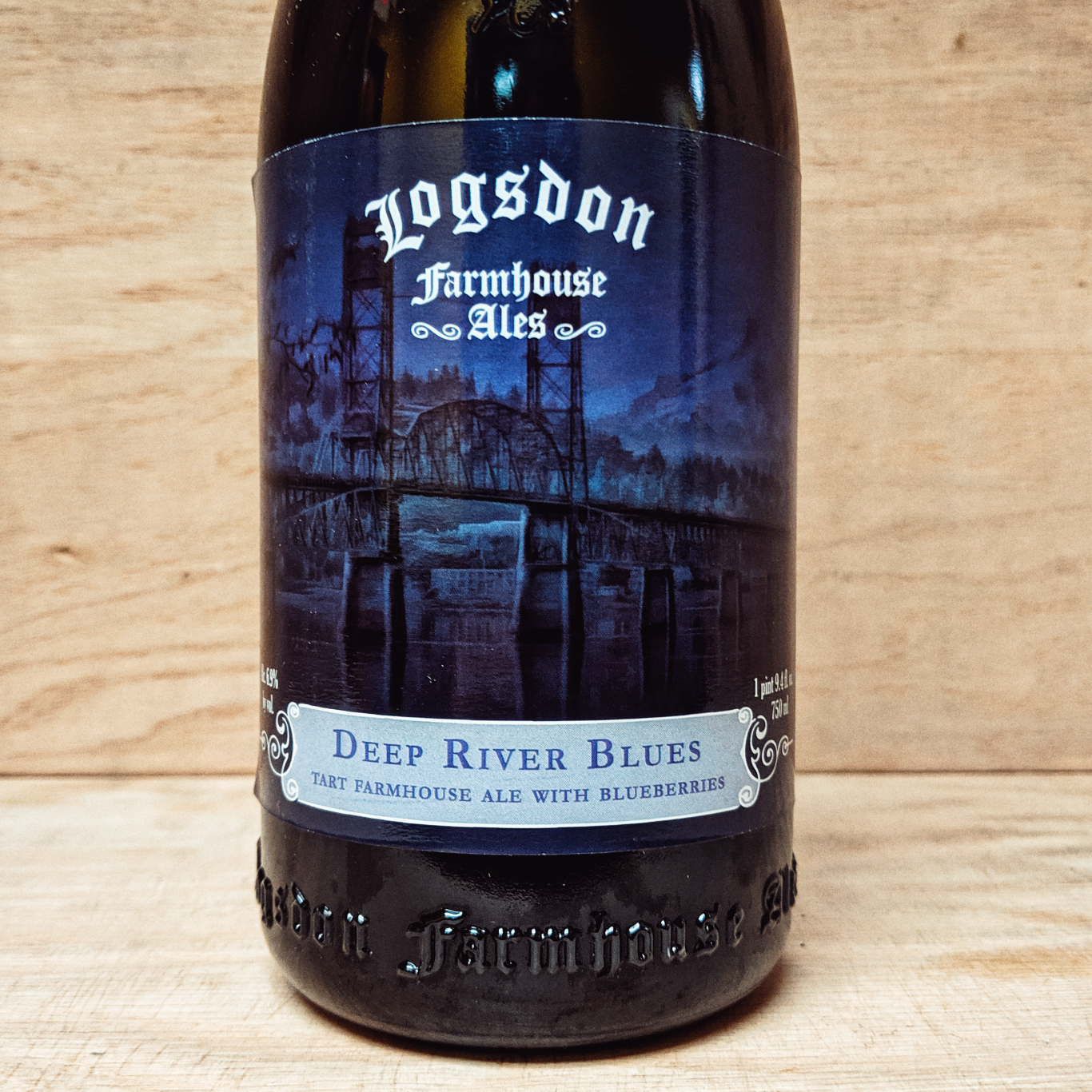 Logsdon 'Deep River Blues' Oak Aged Farmhouse Ale 750ml