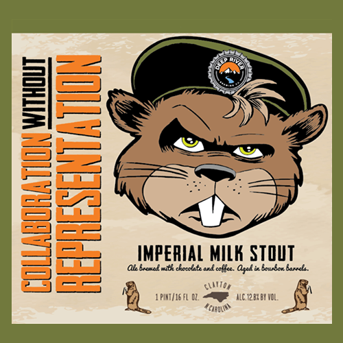 Deep River 'Collaboration without Representation' Barrel-aged Imperial Stout 32oz Growler ($17 + Deposit)