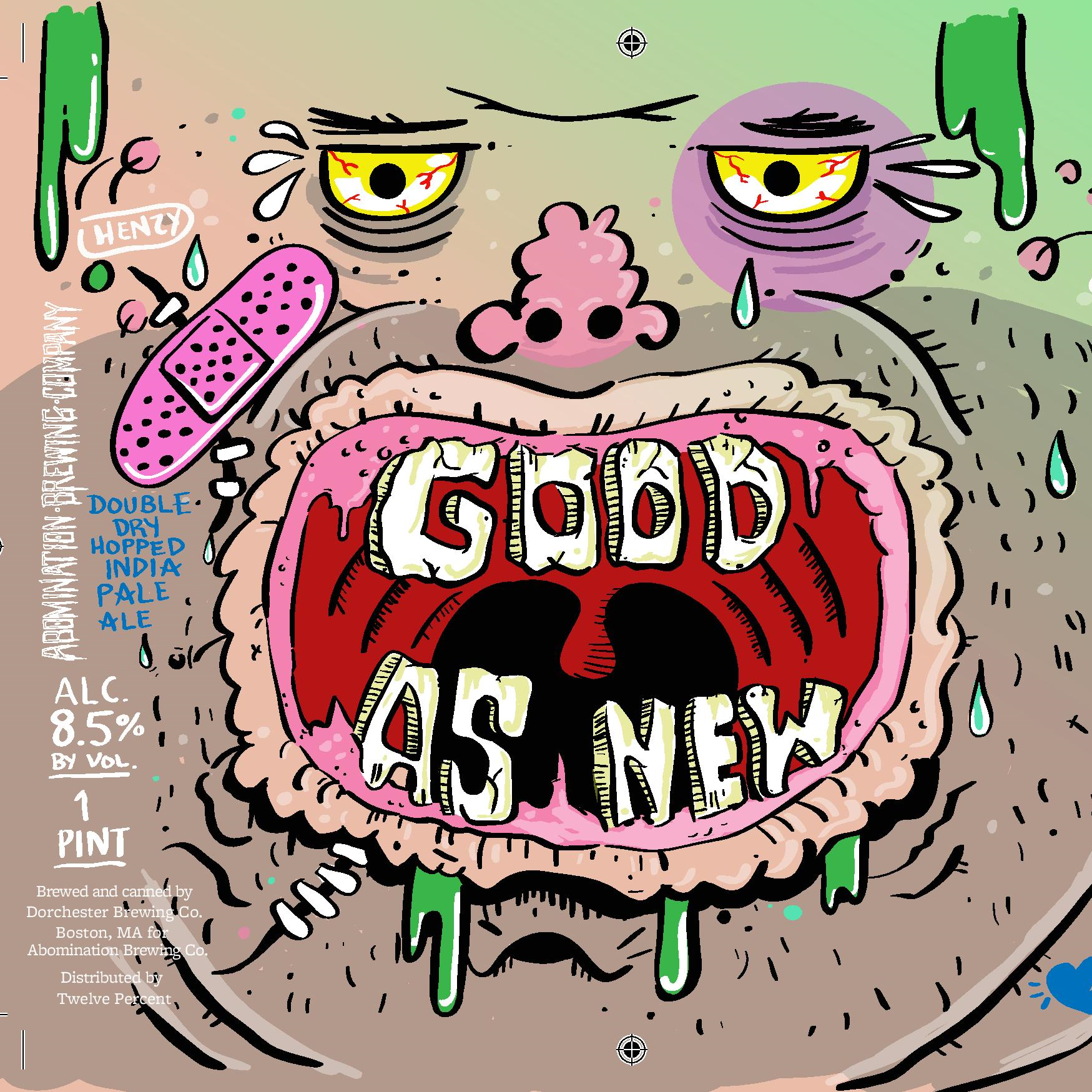 Abomination 'Good As New' Double IPA 16oz Can