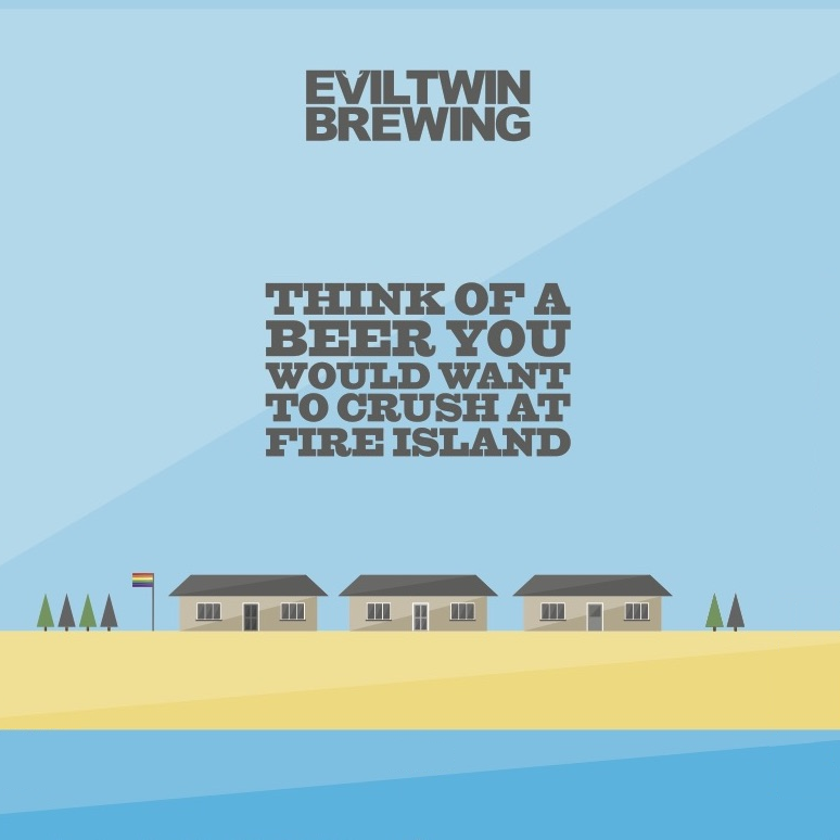 Evil Twin Brewing 'Think of a Beer You Would Want To Crush At Fire Island' Pale Ale 16oz Can