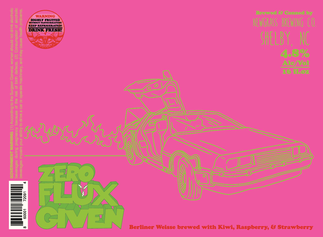 Newgrass 'Zero Flux Given' Berliner Weisse 16oz Can