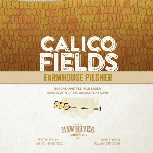 Haw River Farmhouse Ales 'Calico Fields' Classic Pilsner 16oz Can