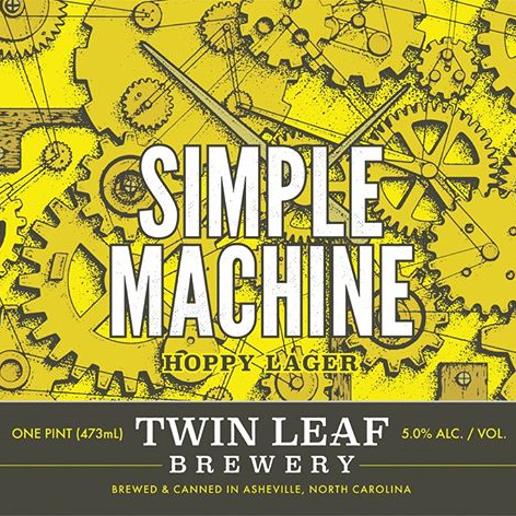 Twin Leaf 'Simple Machine' 16oz Can