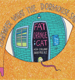 Fat Orange Cat 'Remember What The Dormouse Said' New England-Style IPA 16oz Can
