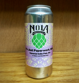 NOLA 'It's Just Paperwork, Man' Double IPA 16oz Can