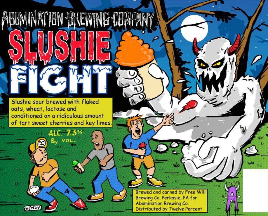 Abomination 'Slushie Fight' Slushie Sour Ale 16oz Can