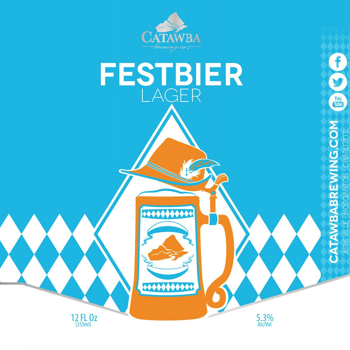 Catawba 'Festbier' Lager 12oz (Can)