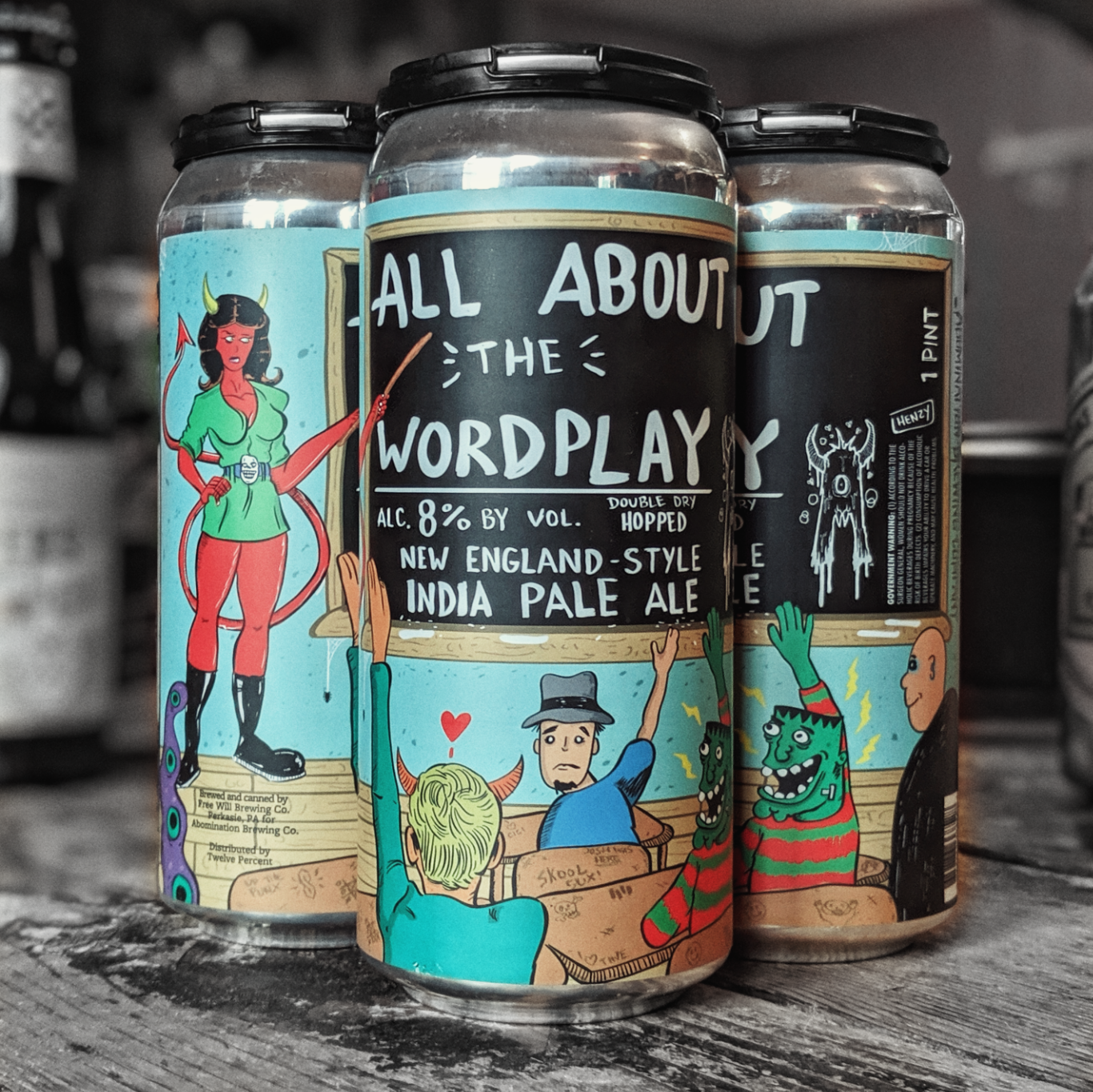 Abomination 'All About The Wordplay' Double IPA 16oz Can