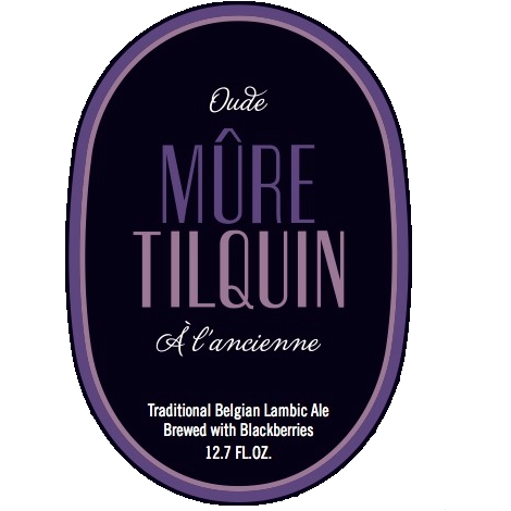 Tilquin 'Oude Mûre Tilquin à l'Ancienne' Sour Ale brewed with Blackberries 375 ml