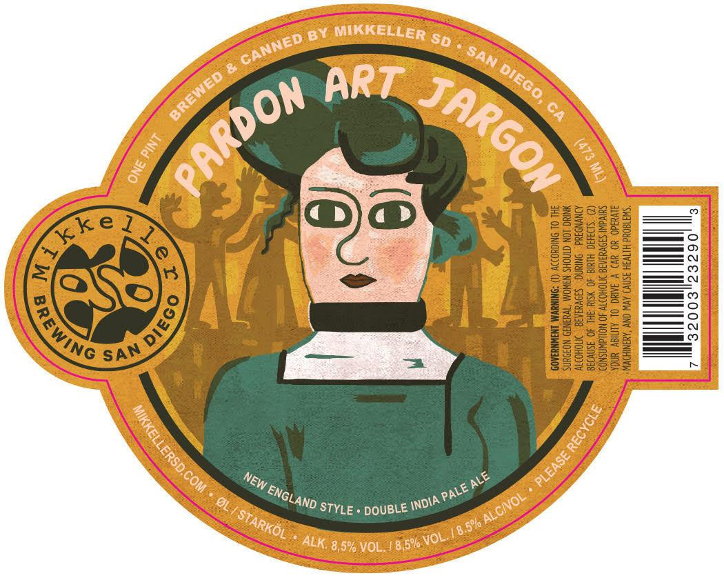 Mikkeller 'Pardon Art Jargon' NE Double IPA 16oz Can