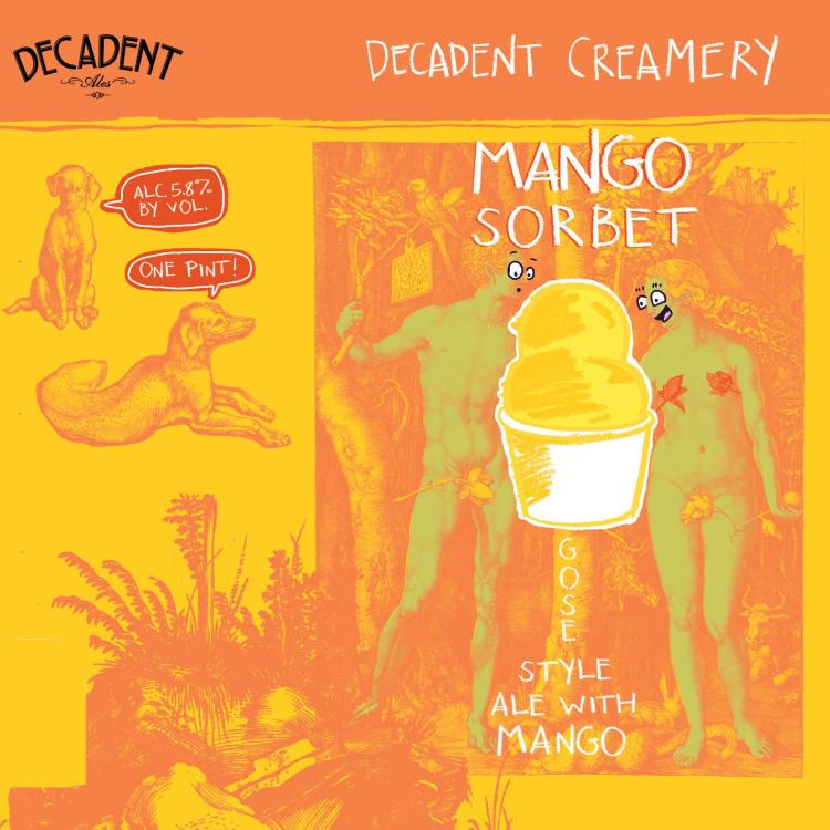 Decadent Ales 'Mango Sorbet' Gose 16oz Can