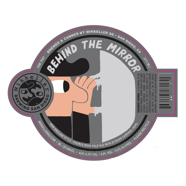 Mikkeller SD 'Behind the Mirror' DIPA 16oz Can