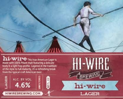 Hi-Wire Brewing 'Lager' 12oz Sgl