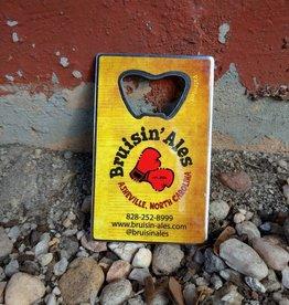 BarWrench Bruisin' Ales Business Card Bottle Opener
