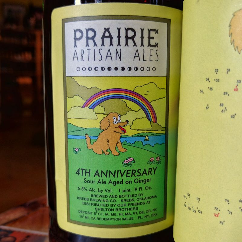 PRAIRIE Artisan Ales '4th Anniversary' Sour Ale aged on Ginger 500ml