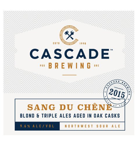 Cascade 'Sang du Chene - 2015 Project' Sour Ale 750ml