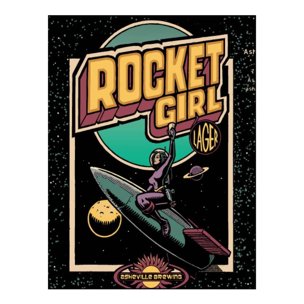Asheville Brewing Co. Rocket Girl Case (12oz - Box of 24)